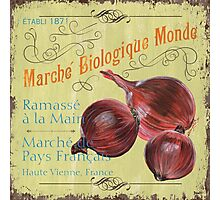 Marche Biologique Monde Photographic Print