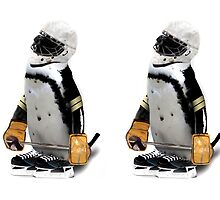 Little Mascot Hockey Player Penguin by Gravityx9