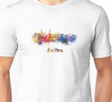 Bolton skyline in watercolor Unisex T-Shirt