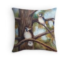 Baby Jays Throw Pillow