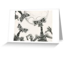 Probing Time Greeting Card