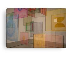 coloured panels Canvas Print