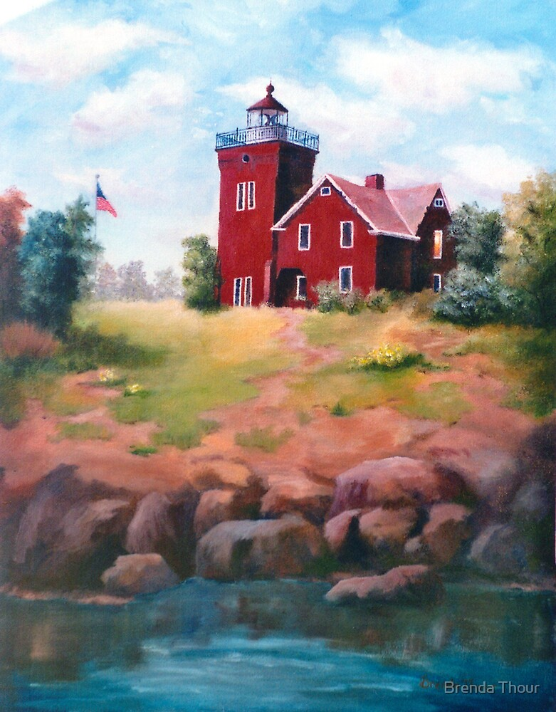 Two Harbors Light by Brenda Thour