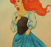 Ariel by the Sea by bluegreen-eyes