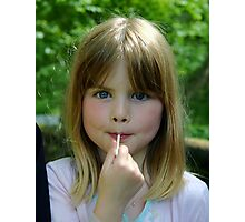 girl with a lollypop Photographic Print