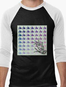 Green Birds Men's Baseball ¾ T-Shirt