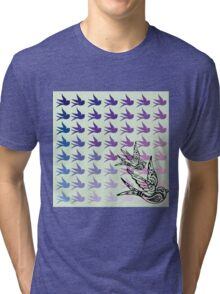 Green Birds Tri-blend T-Shirt