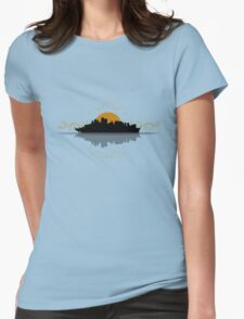 Sydney City Boat Silhouette Womens Fitted T-Shirt