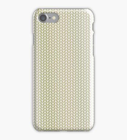 Gold Ombre Herringbone iPhone Case/Skin