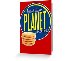 Isaac Clarke's Planet Crackers Greeting Card
