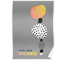 Find your balance Poster