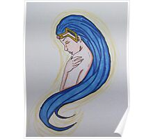 Blue-Haired Princess Poster