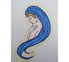Blue-Haired Princess Photographic Print