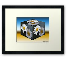 Daisies Cubed Framed Print