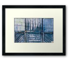Doors - 'Monty's Home: Beyond the Blue Door' Framed Print