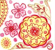 Red & Yellow Flowers by wendys