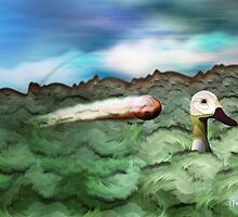 Duck! by flamingalah