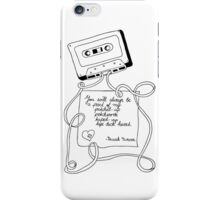 tape deck heart iPhone Case/Skin