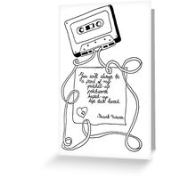tape deck heart Greeting Card
