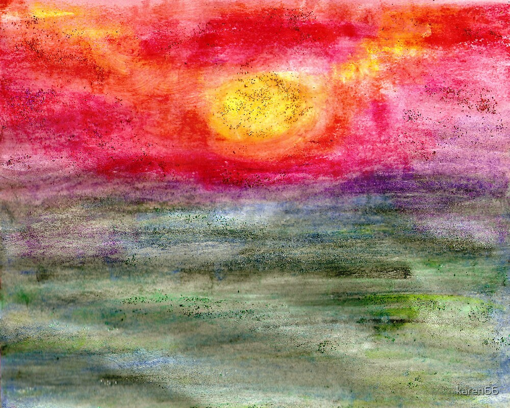Sunrise Over the Sea by karen66