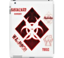 Zombie warning sign red iPad Case/Skin