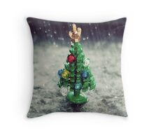 Merry British Christmas Throw Pillow