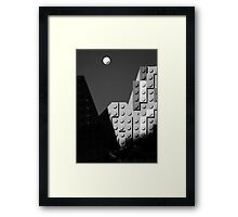 Moon and Half Dome Framed Print