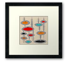 Atomic Era Inspired Art Framed Print