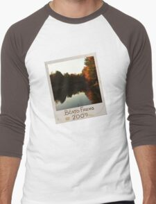 Photograph Lake (Slant) Men's Baseball ¾ T-Shirt