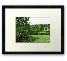 Hilltop Garden - View from Clover Hill Framed Print