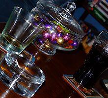 Glass on table by Sjouke Veenbaas