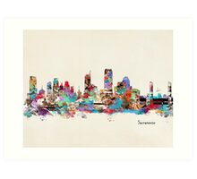 sacramento cailfornia watercolor Art Print