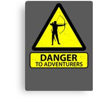 Danger to Adventurers Canvas Print