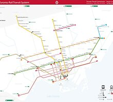 TTC System Map by Nick Caron