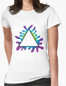 Triangle Splat Womens Fitted T-Shirt