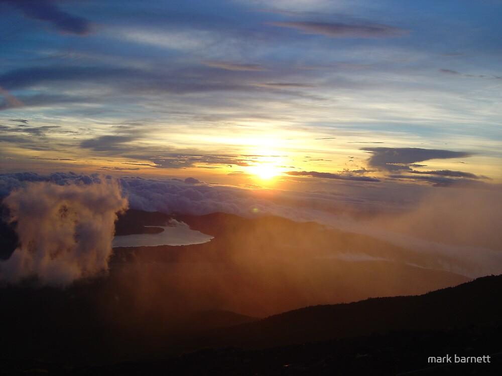 sunrise over mount fuji by mark barnett