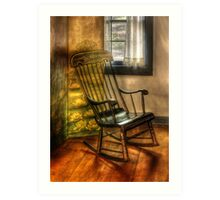 The rocking chair Art Print