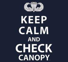 KEEP CALM AND CHECK CANOPY Kids Tee