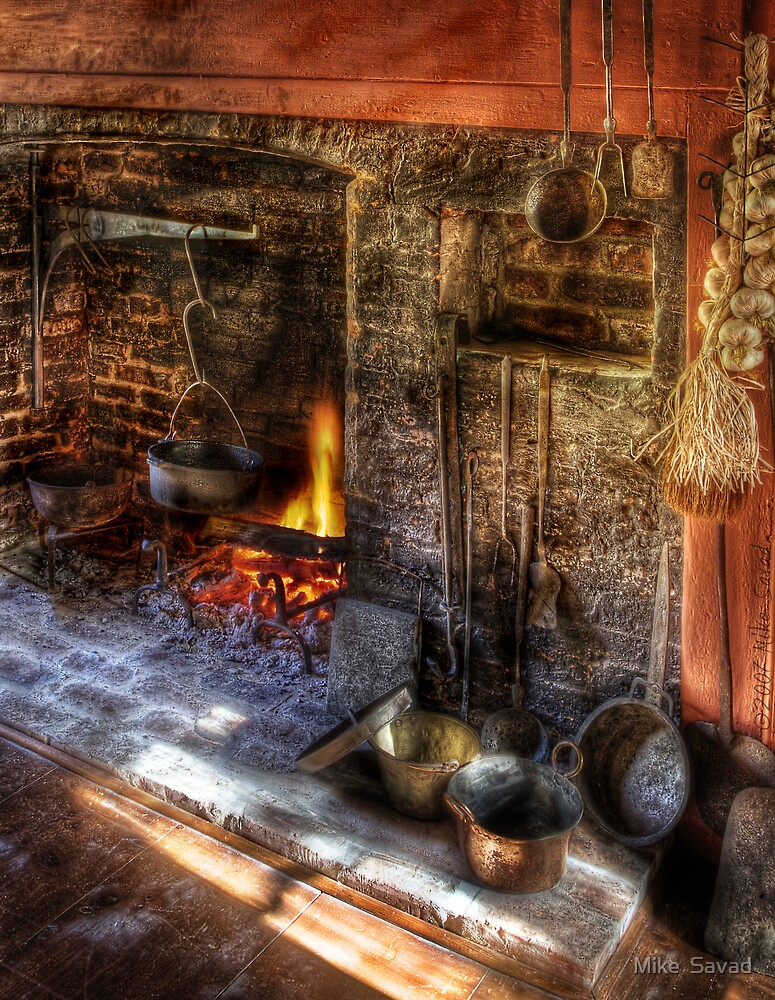 The Fireplace by Mike  Savad