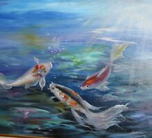 Lake Placid Koi Pond by ArtExpressions
