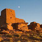 Sunset at Wutpaki National Monument, near Flagstaff Arizona by Kenn Jensen