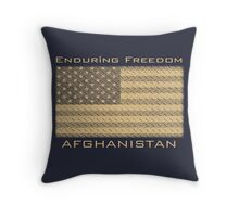 Enduring Freedom Afghanistan Throw Pillow