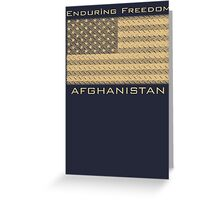 Enduring Freedom Afghanistan Greeting Card
