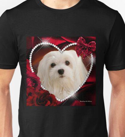 Snowdrop the Maltese - Sweet Valentine Unisex T-Shirt