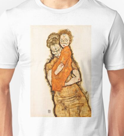 Egon Schiele - Mother And Child (1914) Unisex T-Shirt
