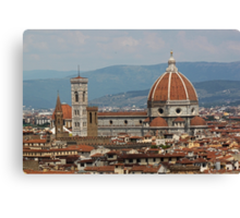 Red roofs of Florence Canvas Print