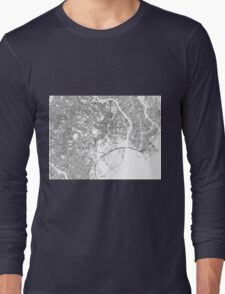 Streets - Tokyo (Black on White) Long Sleeve T-Shirt