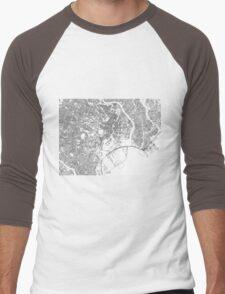 Streets - Tokyo (Black on White) Men's Baseball ¾ T-Shirt
