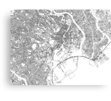 Streets - Tokyo (Black on White) Canvas Print
