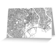 Streets - Tokyo (Black on White) Greeting Card